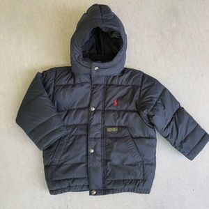 Polo Ralph Lauren Kids Black Down Jacket Size 2